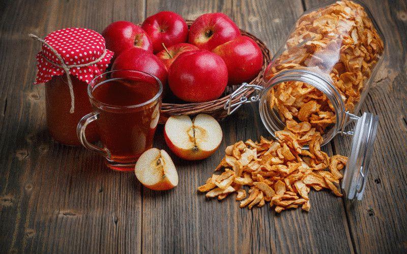 хранение сушеных яблок в домашних условиях