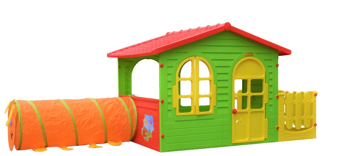 домик с тоннелем