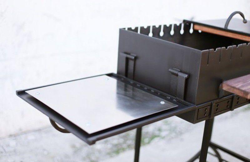 мангал кованый со столиком для приготовления