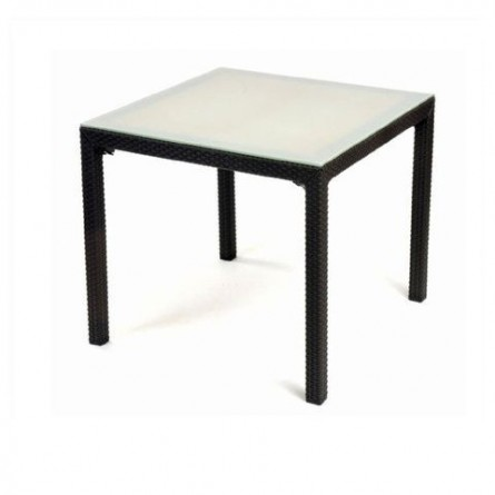 Стол со стеклом Keter Sumatra 72x72 Brown