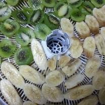 Рецепт сушеных бананов и киви