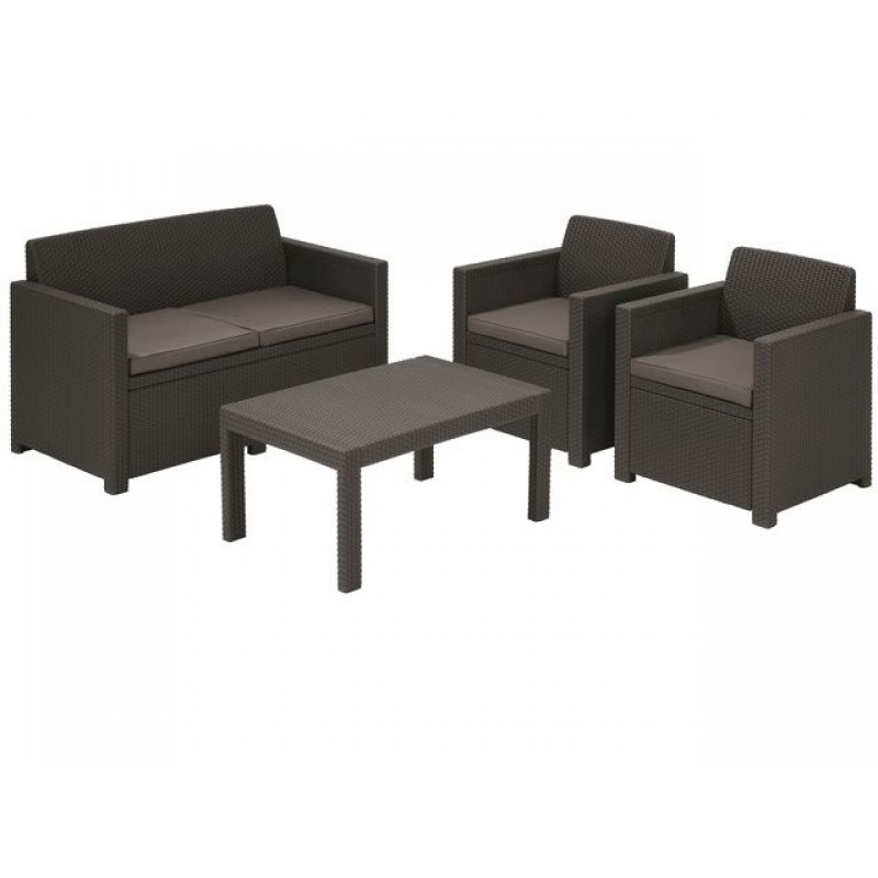 allibert merano set lounge allibert merano set lounge. Black Bedroom Furniture Sets. Home Design Ideas