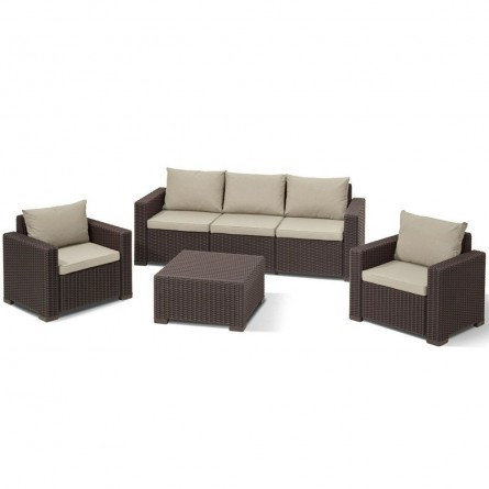 Allibert California 3 seater Brown