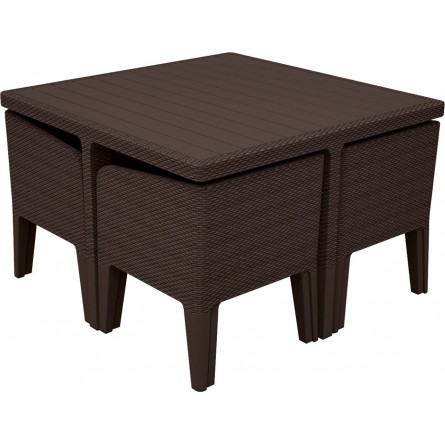 Keter Columbia dining set 5 Brown