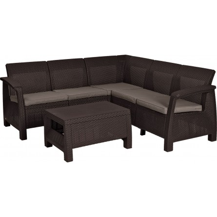 Allibert Corfu Relax set Brown