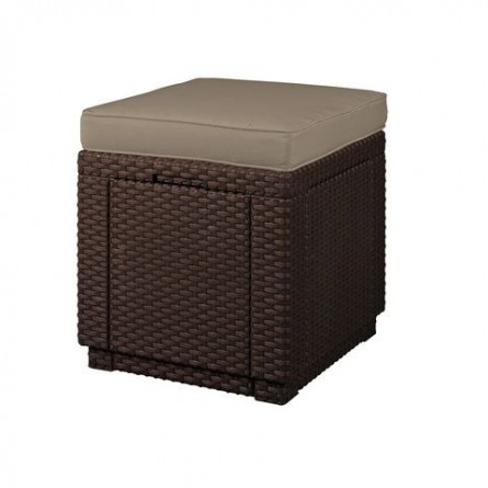 Стул Allibert Cube with cushion Brown