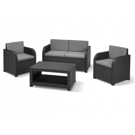 Allibert Modena set lounge Graphite