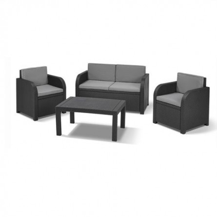 Allibert Saint Tropez set Lounge Anthracite