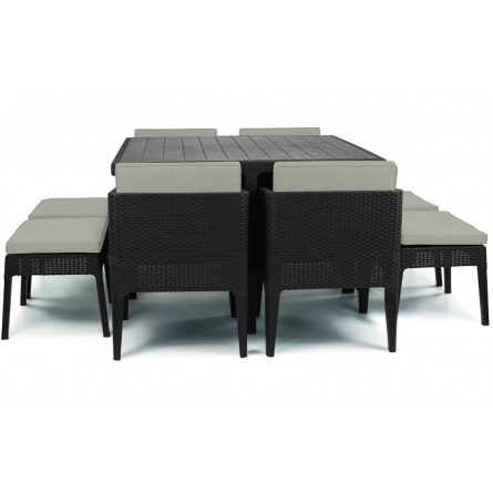 Keter Columbia dining set 9 Brown