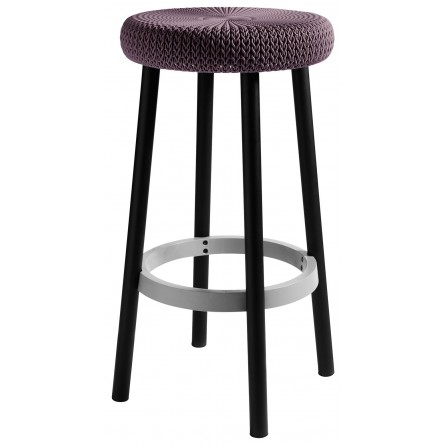 Keter Cozy Bar stool Smooked Purple