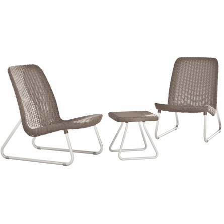 Keter Rio Patio set Capuccino