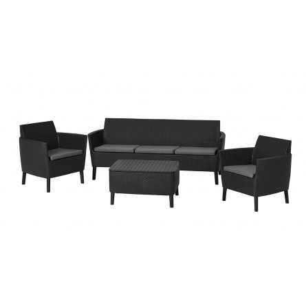 Садовая мебель Keter Salemo 3-seater set Graphite