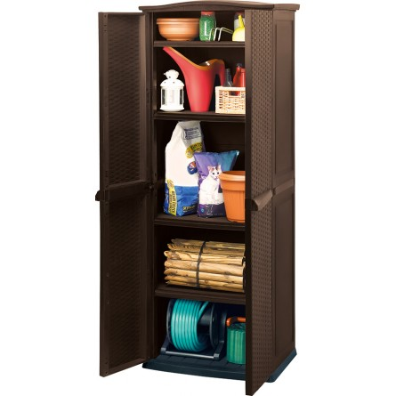Keter TALL Utility Shed Brown