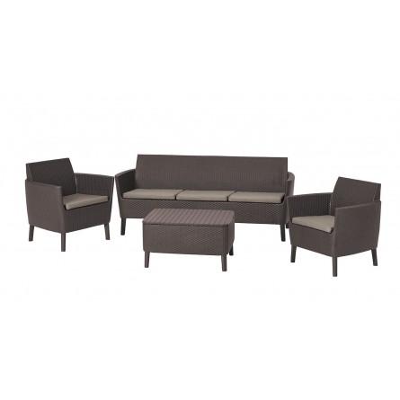 Садовая мебель Keter Salemo 3-seater set Brown