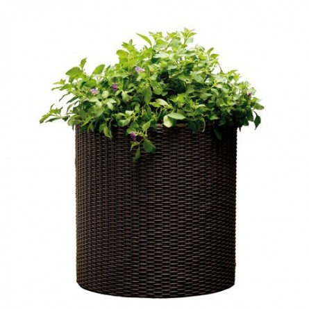 Вазон средний Keter Cylinder Planter Medium Brown