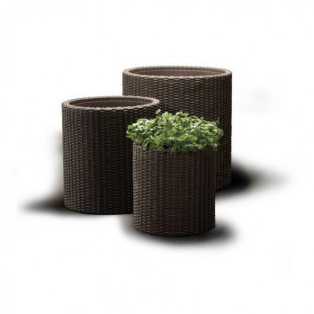 Набор вазонов Keter Cylinder Brown