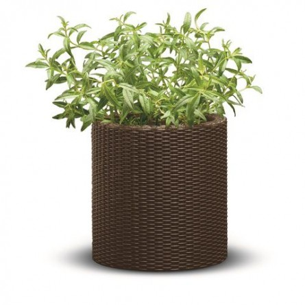 Вазон малый Keter Cylinder Planter Small Brown